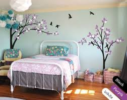 large nursery wall decals modern nursery trees wall decal large corner tree mural decor