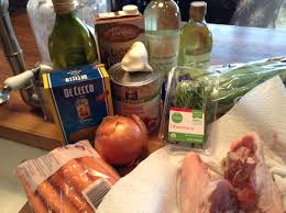 lamb shanks and orzo cooking with candi
