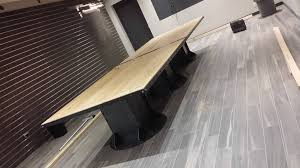 Box Beam Resawn Hardwood Barn Beam Conference Table With Custom Industrial