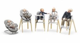 chaise haute à partir de quel age le transat bouncer et la steps de stokke chez les floutch maman