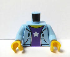 lego blue wizard moon and stars torso pattern minifigure piece ebay