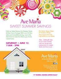 Home Savings by Ave Maria To Showcase Homes During Sweet Summer Savings Event