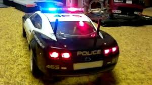 remote control police car with lights and siren chevrolet camaro police car with working lights youtube