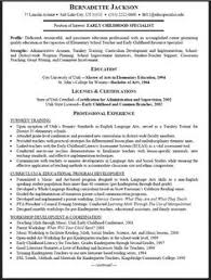 First Year Teacher Resume Examples by Charming Early Childhood Resume 10 Early Childhood Education