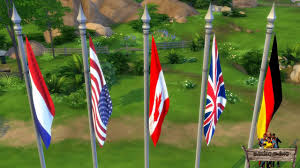 Custom Stick Flags Bakies The Sims 4 Custom Content Animated Country Flags Youtube