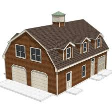 gambrel roof garages house shed with gambrel roof 3d model formfonts 3d models