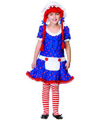Raggedy Ann Costume Rag Doll Kids Raggedy Halloween Costume Girls Costumes