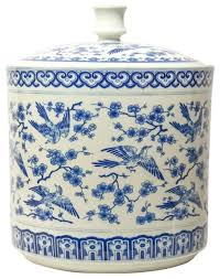 blue and white kitchen canisters bird kitchen canisters bird covered jar blue and white with blue