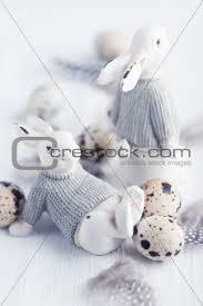 image 4648867 vintage easter bunnies and quail u0027s eggs shabby