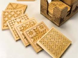 Wood Carving For Beginners Patterns by Carved Coasters From Quilt Block Patterns Http Www
