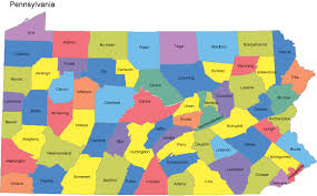 map of counties in pa pennsylvania powerpoint map counties