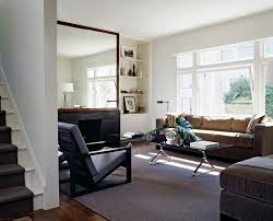 Living Rooms With Area Rugs oversized floor mirror living room contemporary with accent table