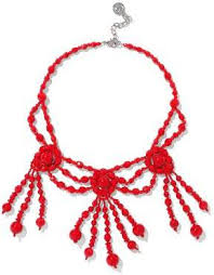 large red beaded necklace images Red bead necklace shopstyle uk jpg