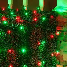 led 5mm green net lights installation