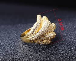 girls gold rings images Copper rings w cubic zircon ring girls key ring fashion jewelry jpg
