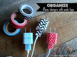 Washi Tape What Is It Organize Your Iphone Charges Using Washi Tape