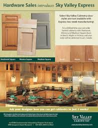 Kcma Kitchen Cabinets Sky Valley Cabinetry Flyer
