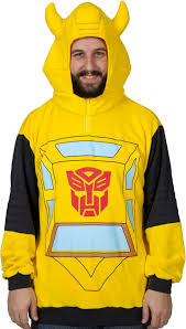Bumble Bee Halloween Costume Transformers Bumblebee Costume Hoodie 80s Cartoons G1 Costume Hoodie