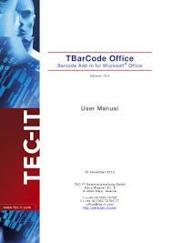 t bar codeoffice10 user manual en
