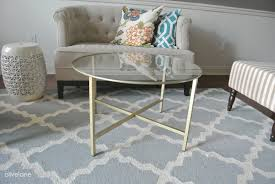 Ikea Dining Table Hacks Spray Painted Ikea Vittsjo Coffee Table Using A Little Gold Youtube