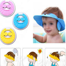 baby shower hat wholesale adjustable baby kids shoo cap bath bathing shower cap