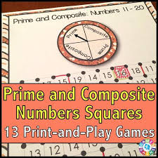 prime and composite numbers u0027squares u0027 game games 4 gains 1