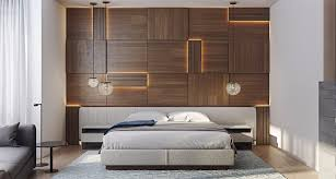 Modern Master Bedroom Designs Striking Wood Panels In Modern Master Bedroom Design Concept
