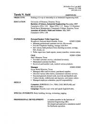 Sample Bank Resume by Bank Teller Resume Sample Entry Level Sample Banker Resume