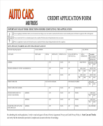sample credit application form 10 free documents in pdf