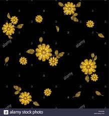 gold embroidery stock vector images alamy