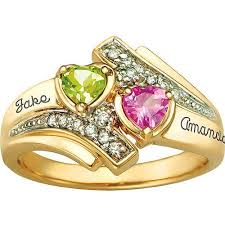rings with birthstones keepsake personalized family jewelry serenade promise ring