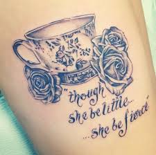 cute teacup finger tattoo design real photo pictures images and