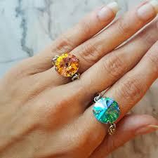 crystal chain rings images Rings earrings c c collection jpg