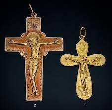 pectoral crosses 19th century gold pectoral cross pendants antique jewelry