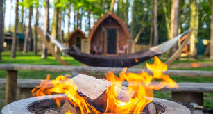 Flat Packed Portable Fire Pit From Boutique Camping Uk - pinewood luxury camping pods kent the aspinall foundation