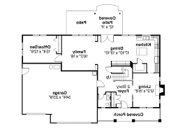 bungalow house plan cavanaugh 30 490 flr1 floor with elevation