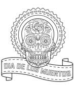 sugar skull flowers coloring free printable coloring pages