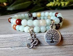 energy bracelet life images Amazonite set of 2 yoga stacked energy bracelets with tree of life jpg