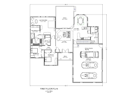 Ranch Style Home Plans With Basement 3 Bedroom Rambler Floor Plans Of Also One Story House With