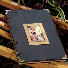 large wedding photo albums large ring binder photo album 76 pages kraft scrapbook