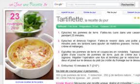 recette cuisine du jour un jour une recette vous donne une idée de recette de cuisine par