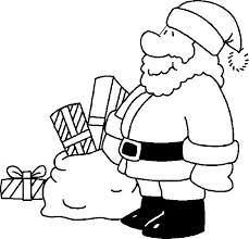 santa claus coloring pages picture of a printable santa claus page