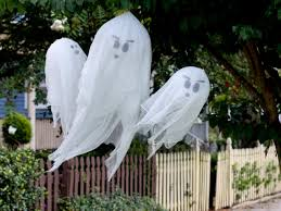 halloween signs for yard how to make hanging halloween ghosts how tos diy
