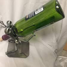 wine bottle holder wine holder recycled metal art unique wine