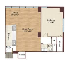 Studio Apartment Floor Plan by Rittenhouse Square Apartments For Rent Center City Apartment