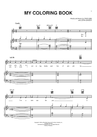 my coloring book sheet music music for piano and more