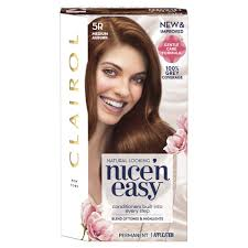 clairol nice n easy natural light auburn clairol nice n easy permanent hair dye 5r medium auburn at wilko com