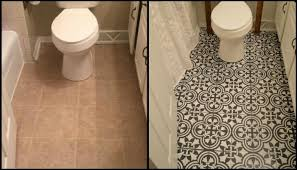 painting a floor give your bathroom a new look by chalk painting floor tiles diy