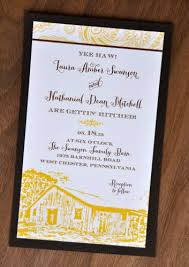 barn wedding invitations mounted wedding invitations rectangle wiregrass weddings
