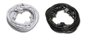 white extension cord century wire cable century power multi outlet power